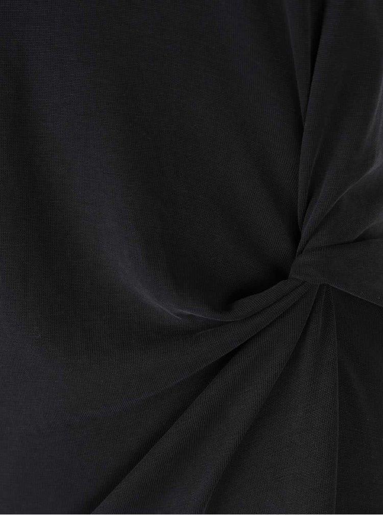Tricou negru cu nod decorativ VERO MODA Grey
