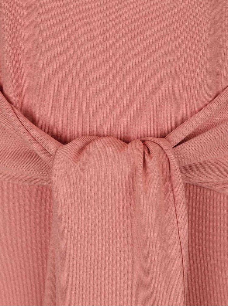 Rochie maxi roz VERO MODA Sachi cu cordon