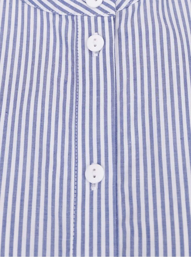 Bílo-modré pruhované košilové šaty VERO MODA Anthea