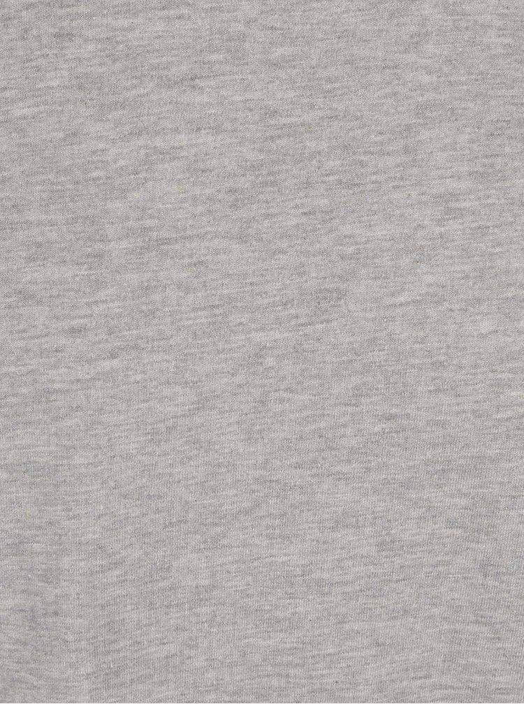 Šedé dlouhé žíhané triko Shine Original
