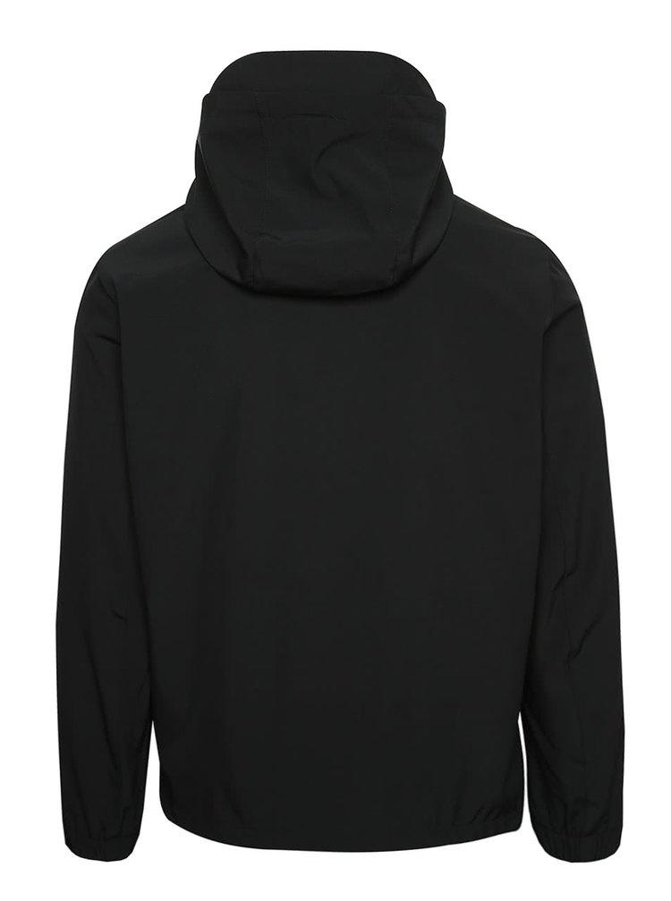 Černá soft shell bunda s kapucí Jack & Jones Pelle
