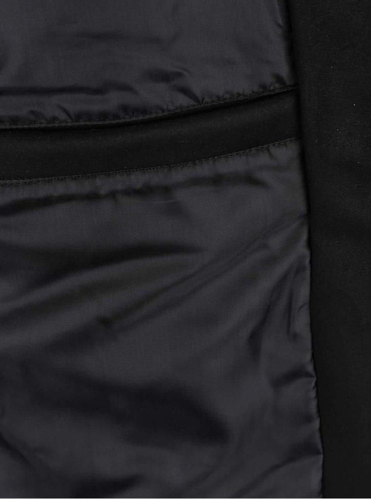 Jachetă bomber neagră Shine Original cu aspect piele întoarsă