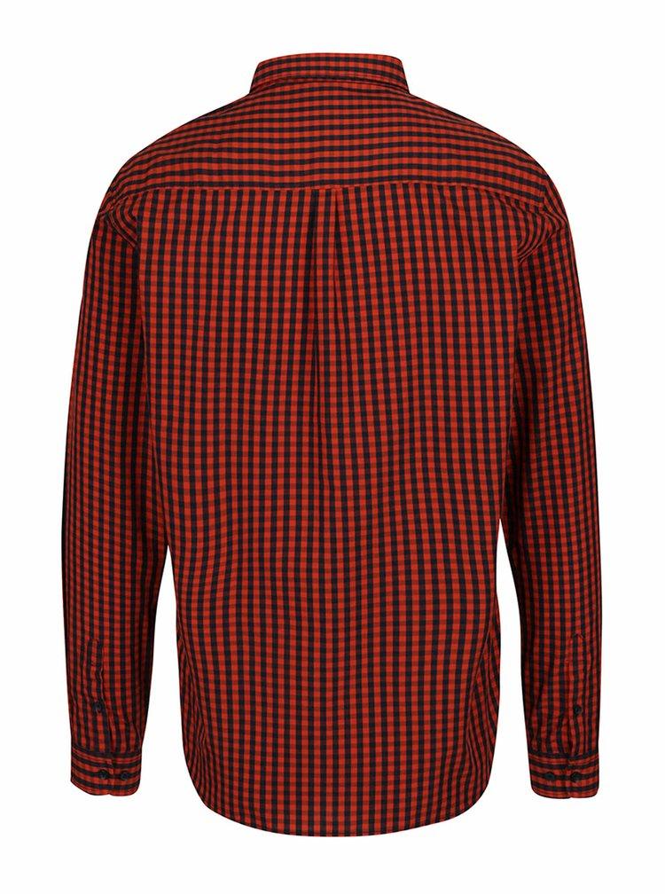 Modro-červená kostkovaná košile s dlouhým rukávem Shine Original