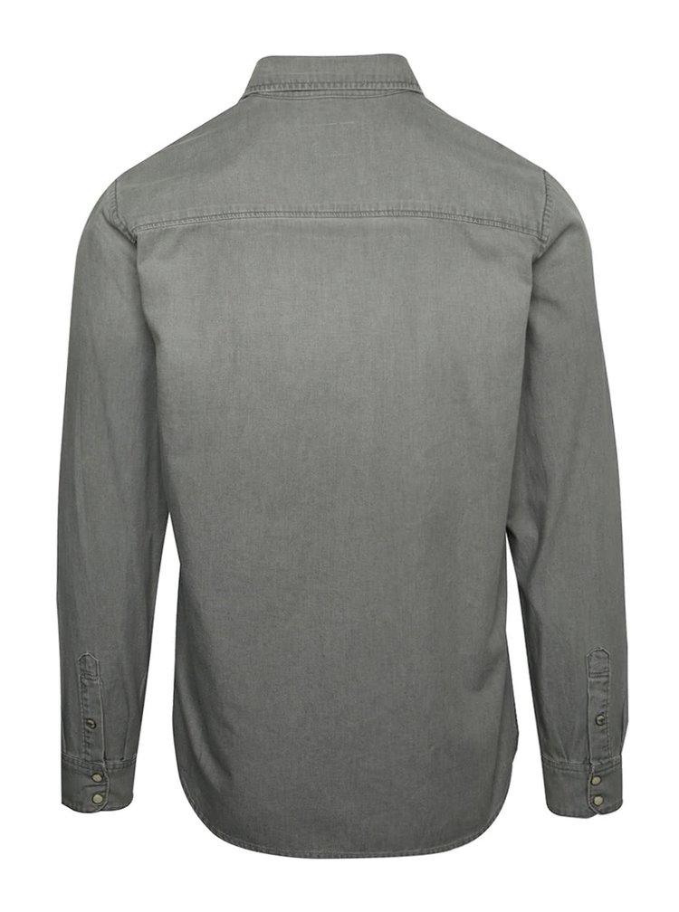 Světle šedá džínová košile Jack & Jones Sheridan