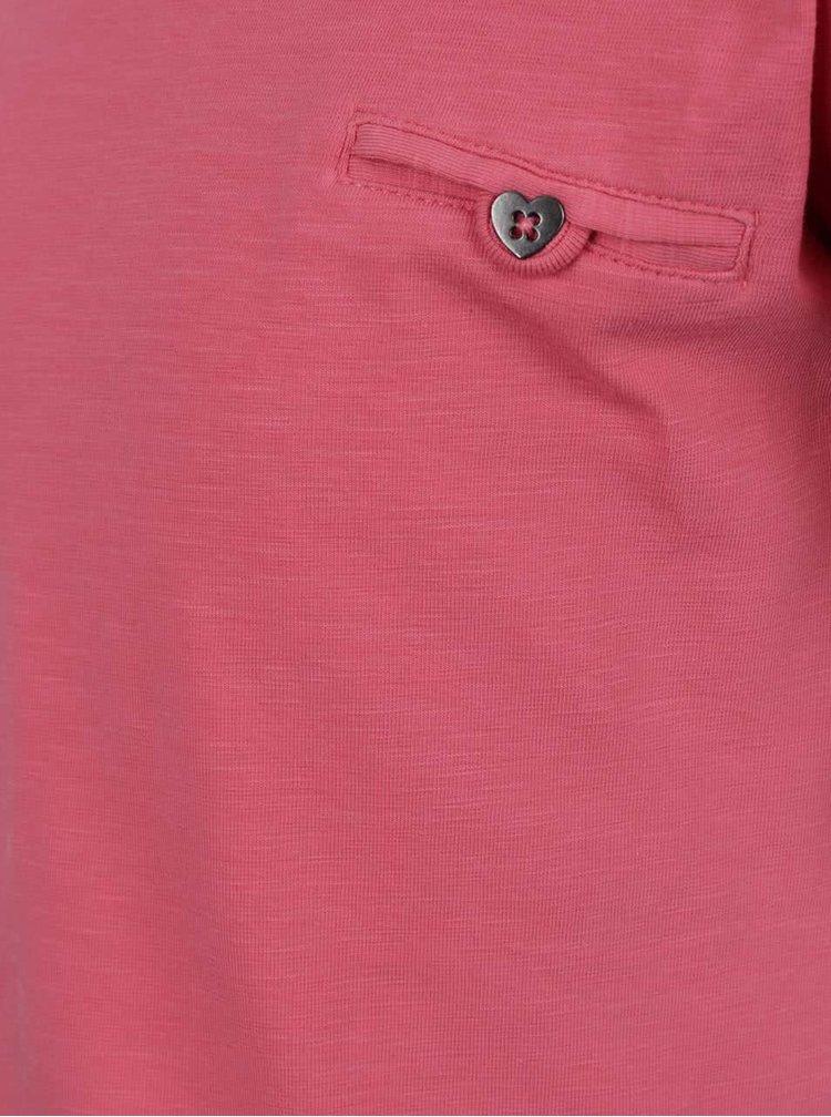 Růžové holčičí tričko s krátkým rukávem name it Iseon