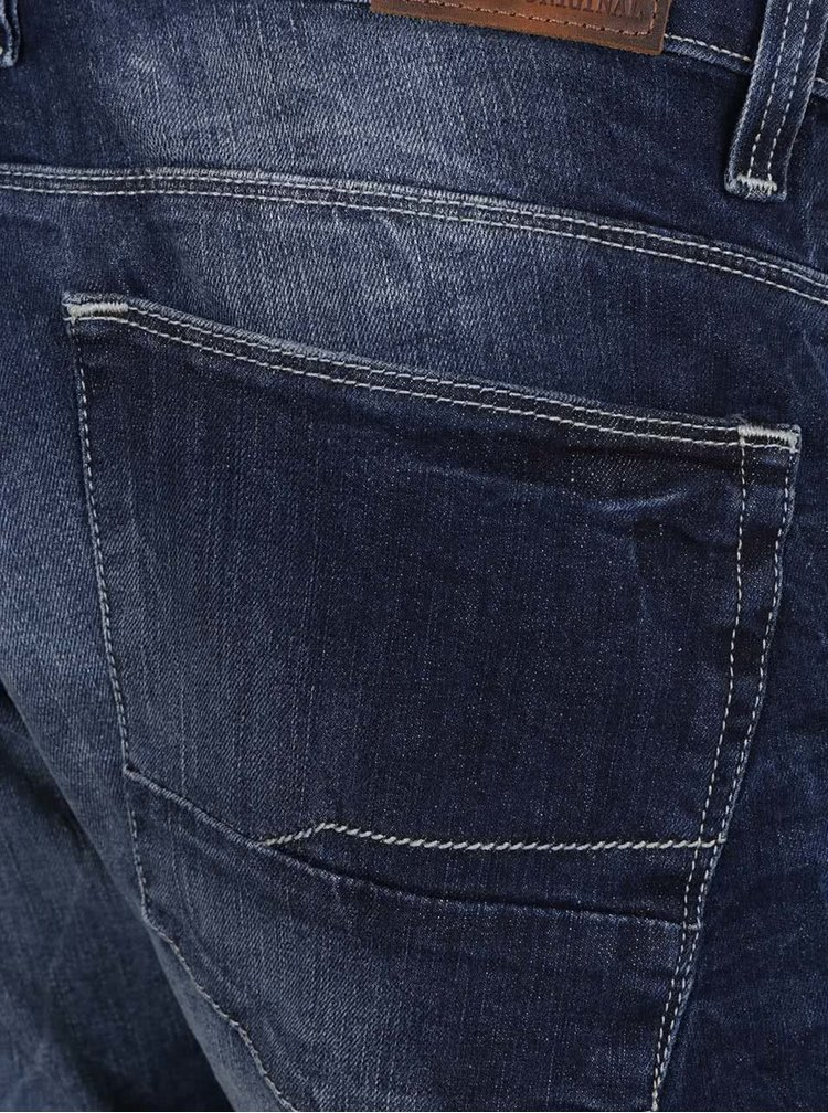 Blugi albastru inchis cu aspect prespalat Shine Original