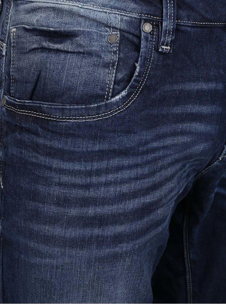 Blugi albastru închis cu aspect prespălat Shine Original