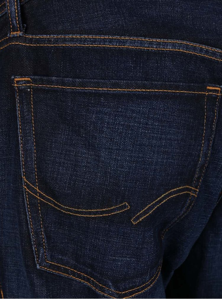 Tmavě modré regular fit džíny Jack & Jones Clark