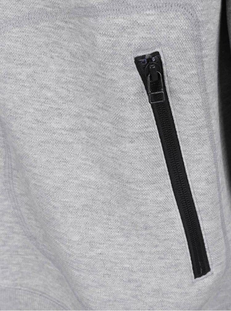 Světle šedá pánská mikina na zip adidas Originals Relaxed