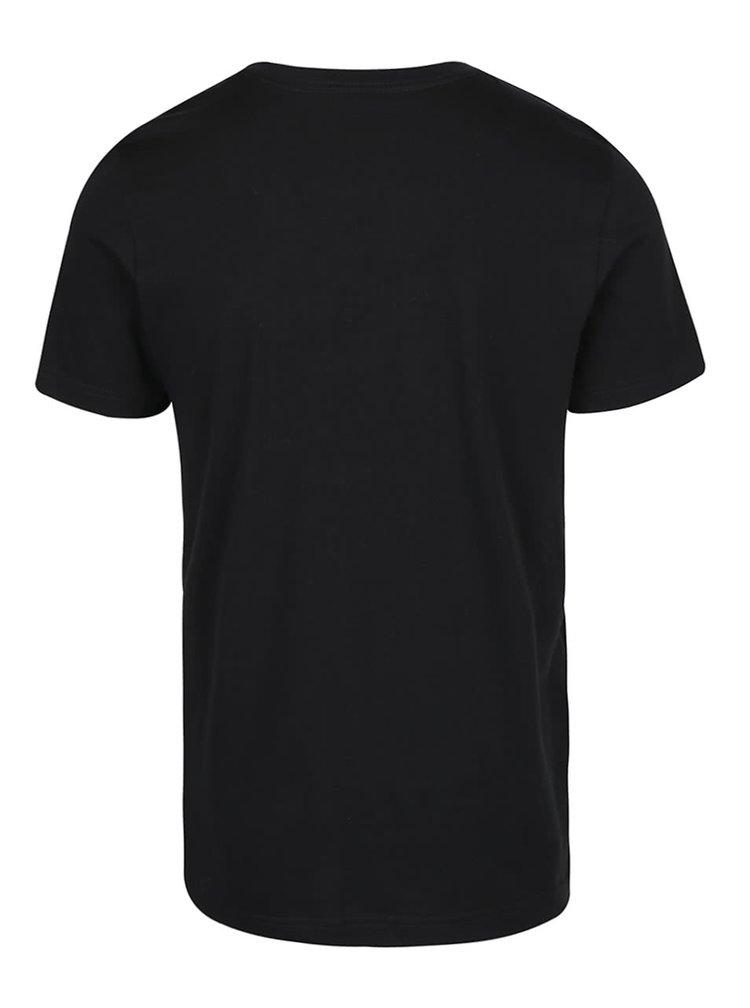 Čierne pánske tričko s potlačou adidas Originals Editorial Tongu ... f39aed9d48f