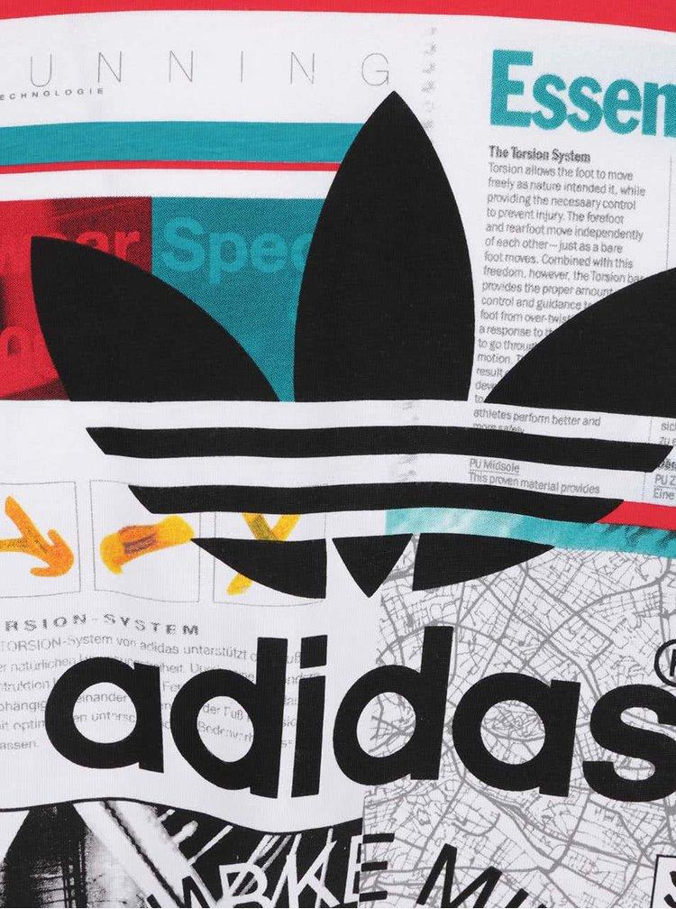 Bílé pánské triko s potiskem adidas Originals Editorial Tongu