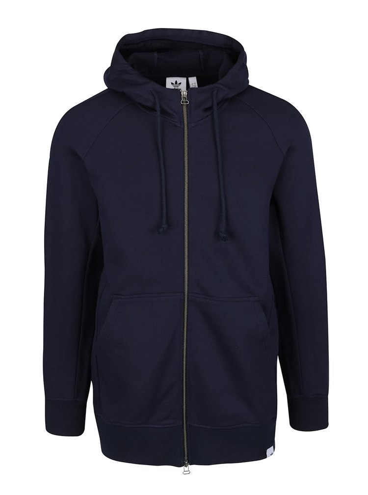 Tmavě modrá pánská mikina na zip s kapucí adidas Originals X By
