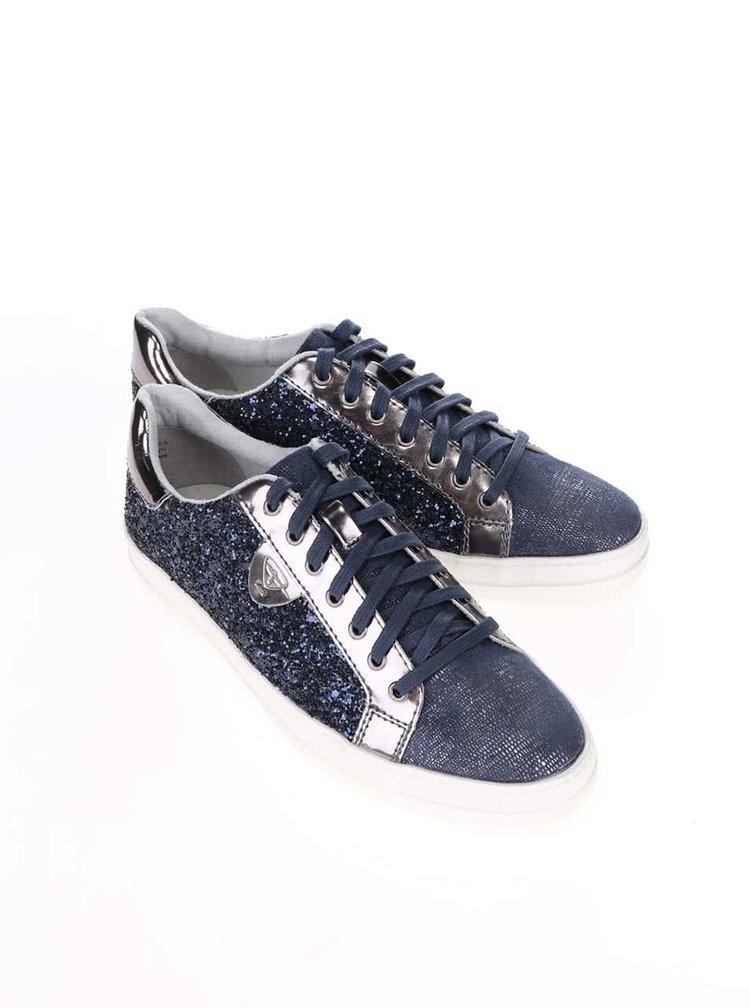 Pantofi sport Tamaris albastri stralucitori