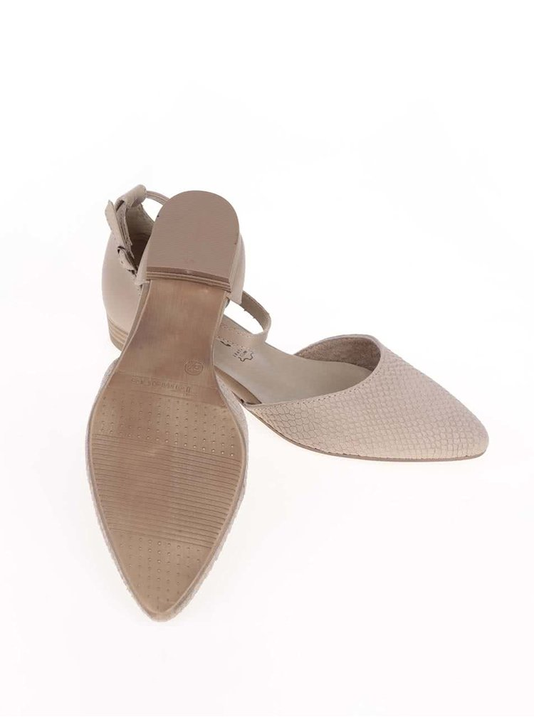 Sandale bej Tamaris din piele cu model