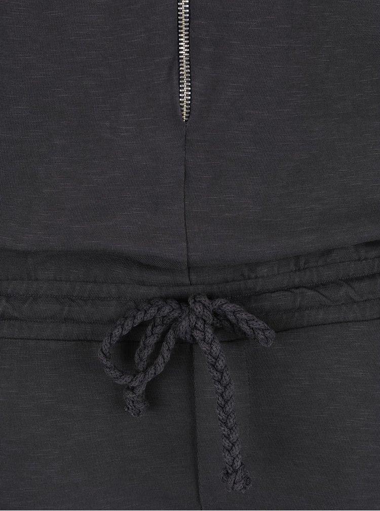 Tmavě šedý overal s krátkými rukávy Rich & Royal