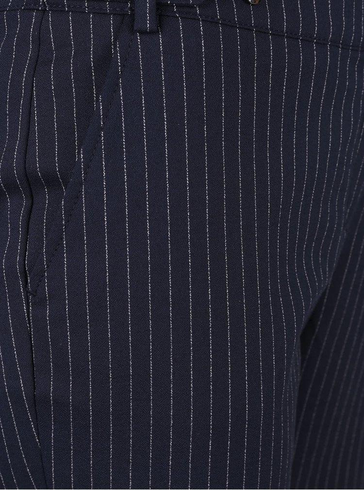 Tmavě modré pruhované kalhoty Rich & Royal