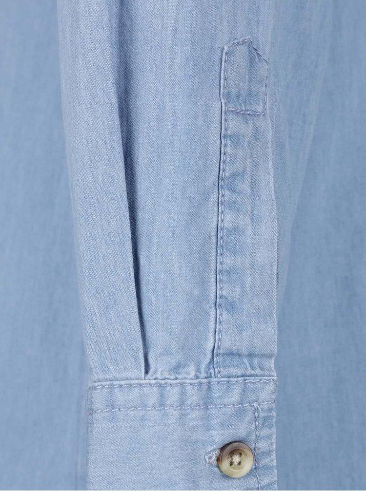Rochie camasa albastru deschis Apricot din denim