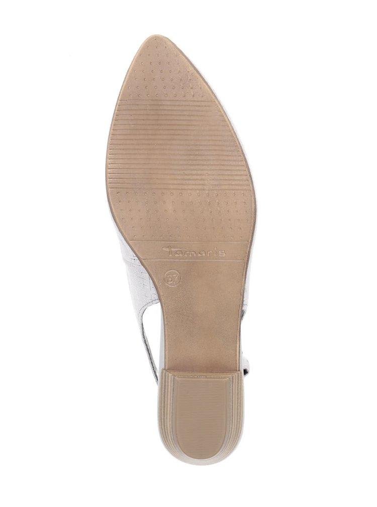 Pantofi slingback gri Tamaris din piele