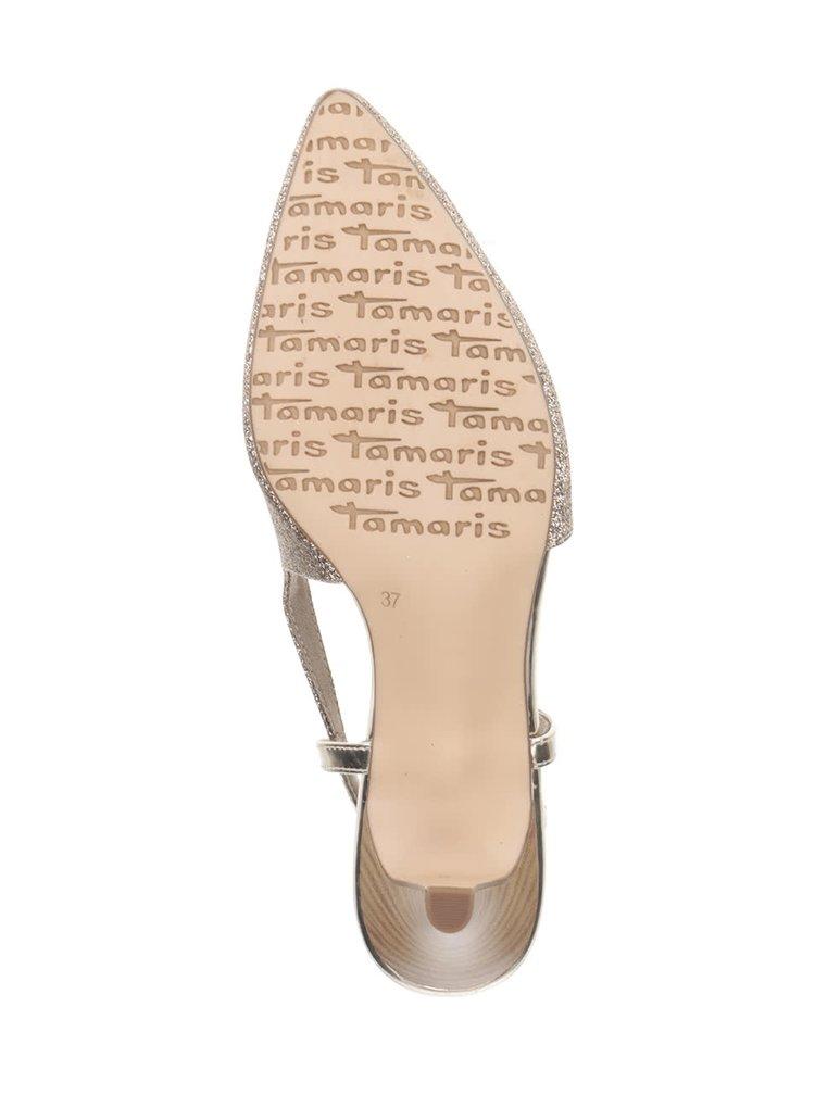 Pantofi slingback aurii Tamaris
