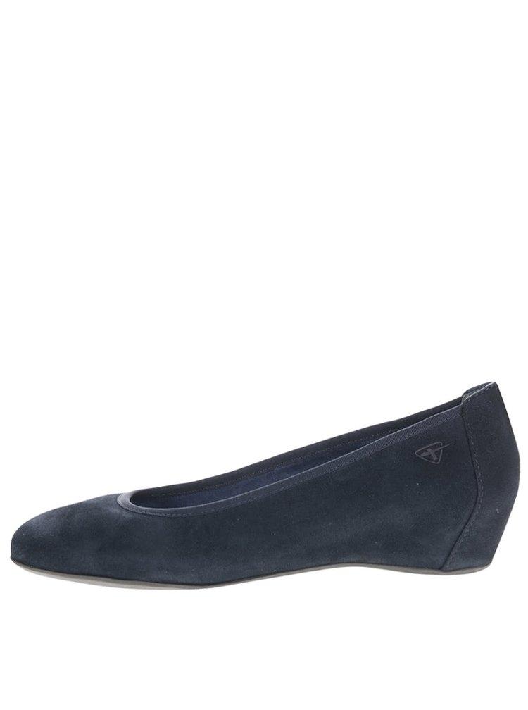 Pantofi wedges albastri Tamaris
