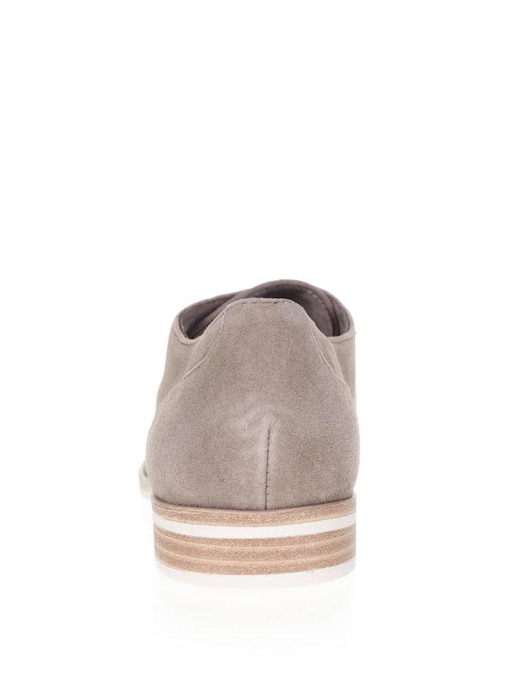 Pantofi maro deschis Tamaris din piele