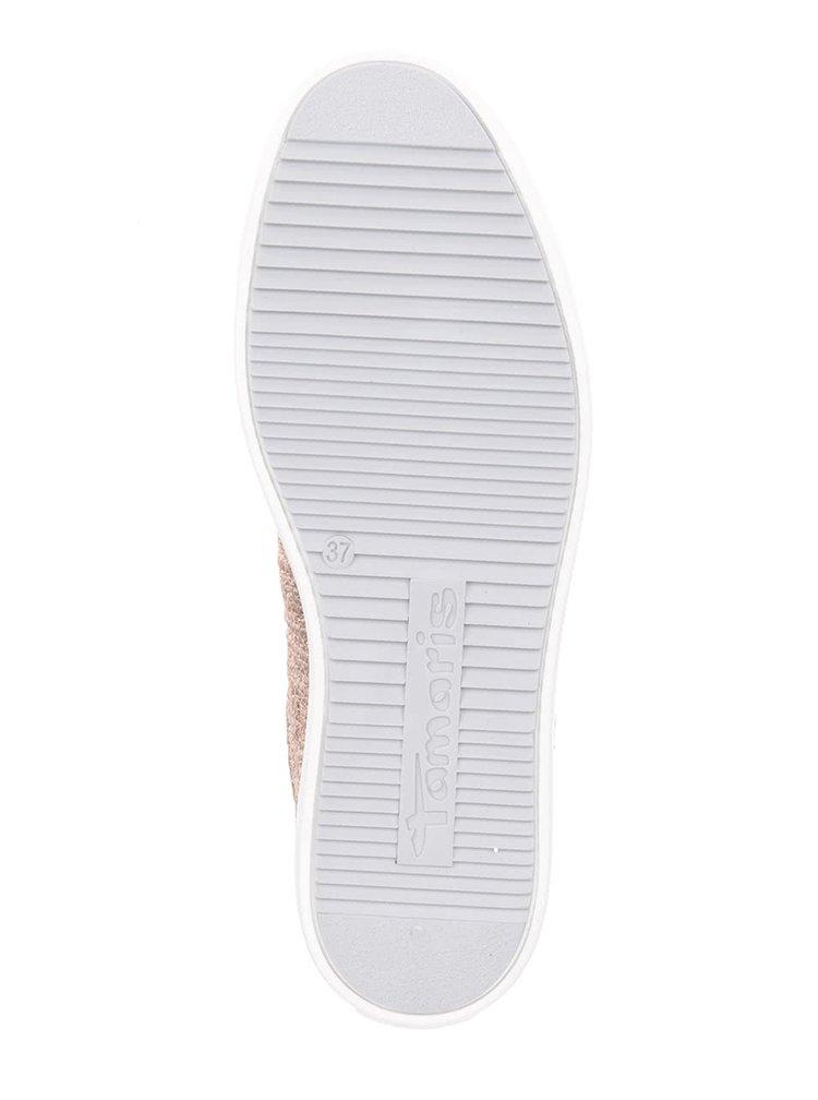 Pantofi sport roz Tamaris cu aspect metalic