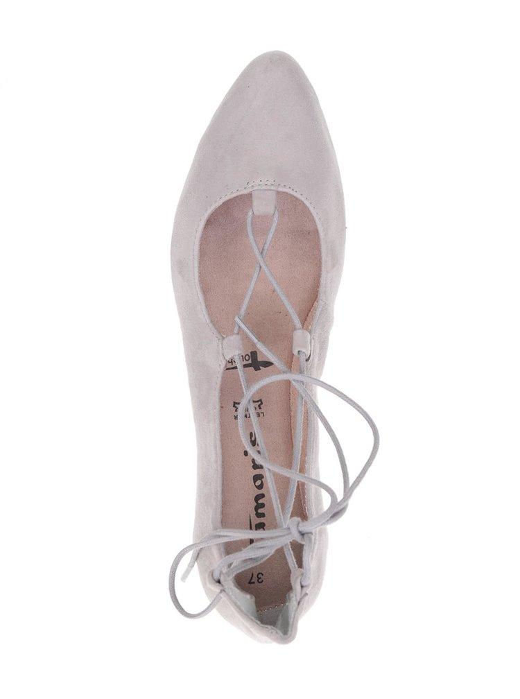 Balerini roz deschis Tamaris cu șnur