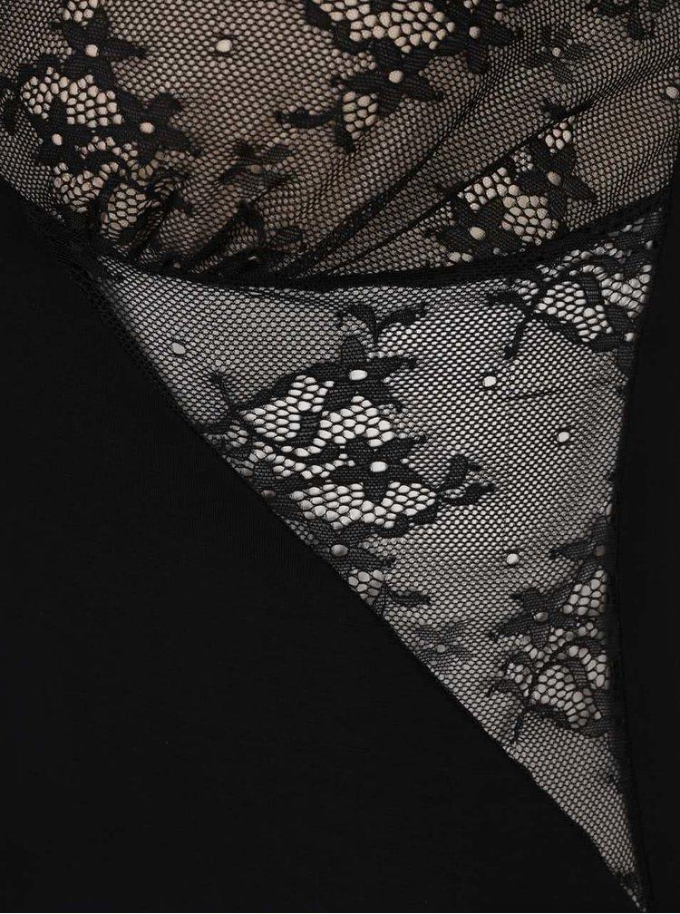 Černá noční košilka s průsvitnými košíčky Eldar Igna