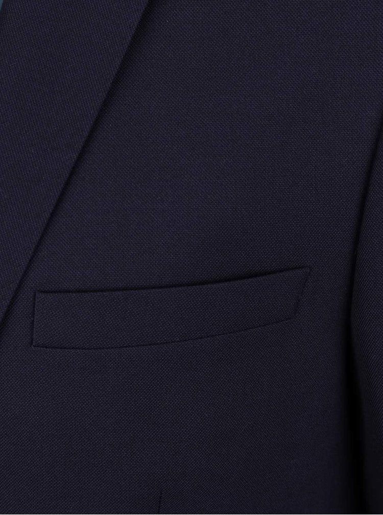 Sacou albastru inchis Burton Menswear London slim fit