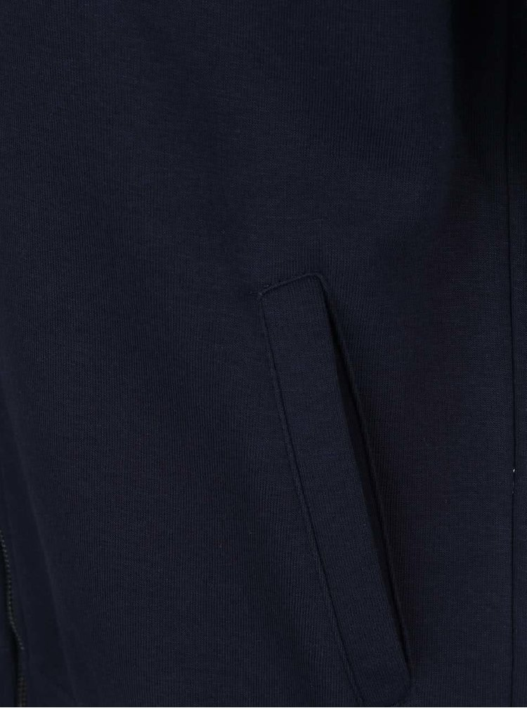Hanorac albastru închis & gri melanj Burton Menswear London
