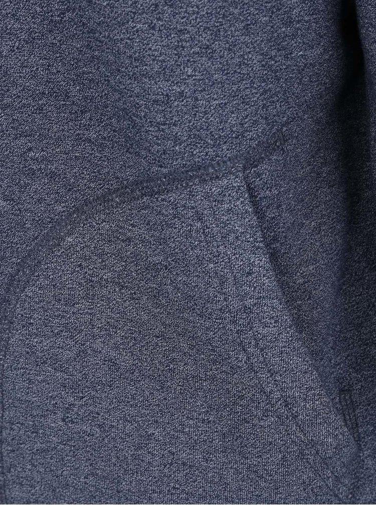 Modrá žíhaná teplá mikina s kapucí Burton Menswear London