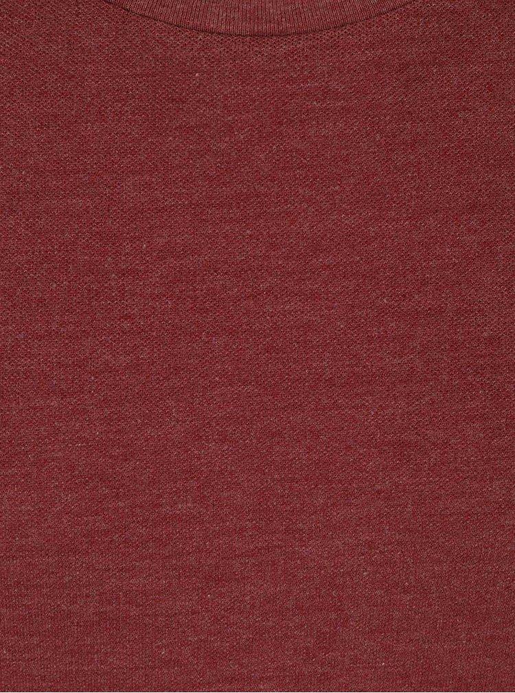 Červené triko s krátkým rukávem Burton Menswear London