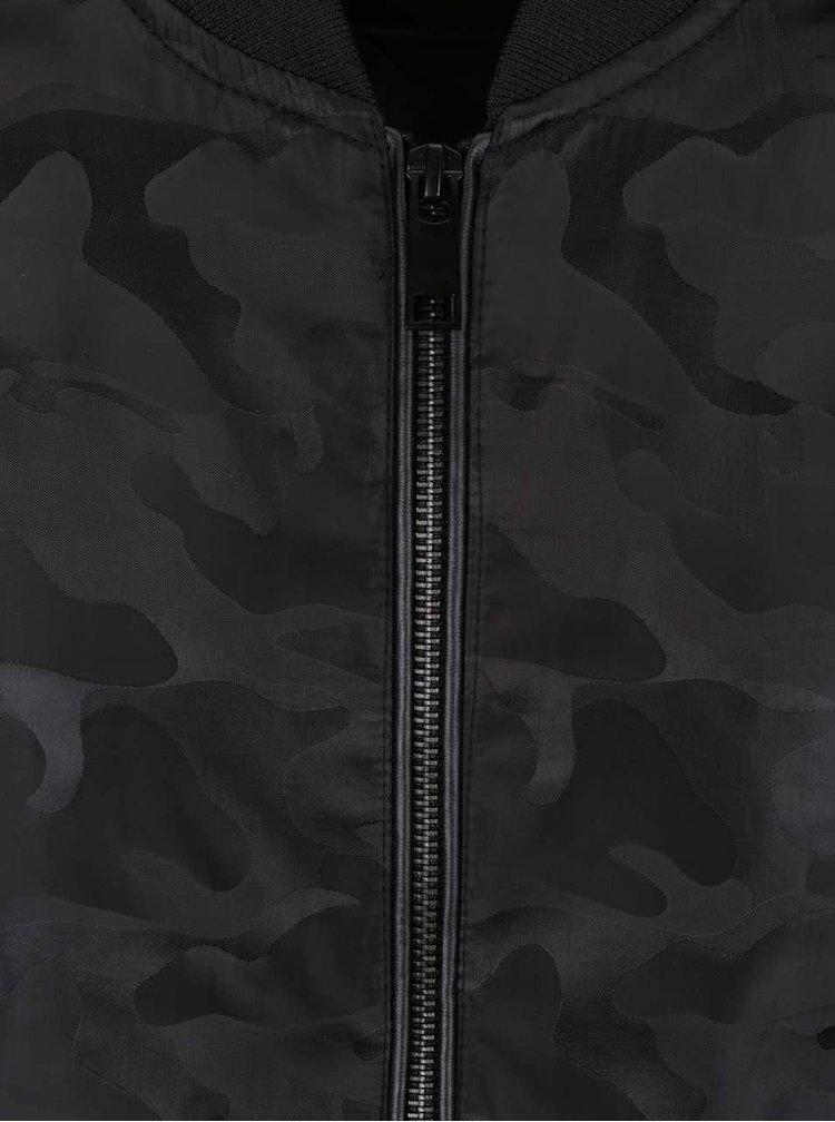 Čerrný vzorovaný bomber Burton Menswear London