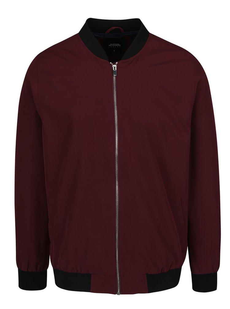 Jachetă bomber vișinie Burton Menswear London