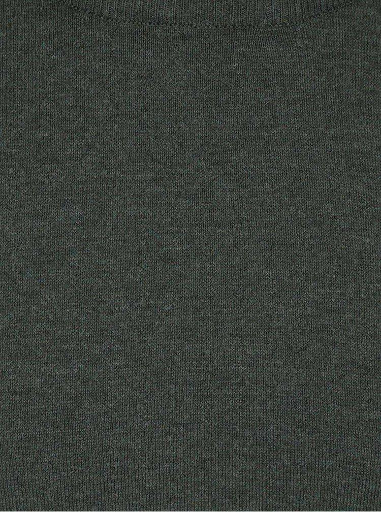 Tmavě zelený lehký svetr Burton Menswear London