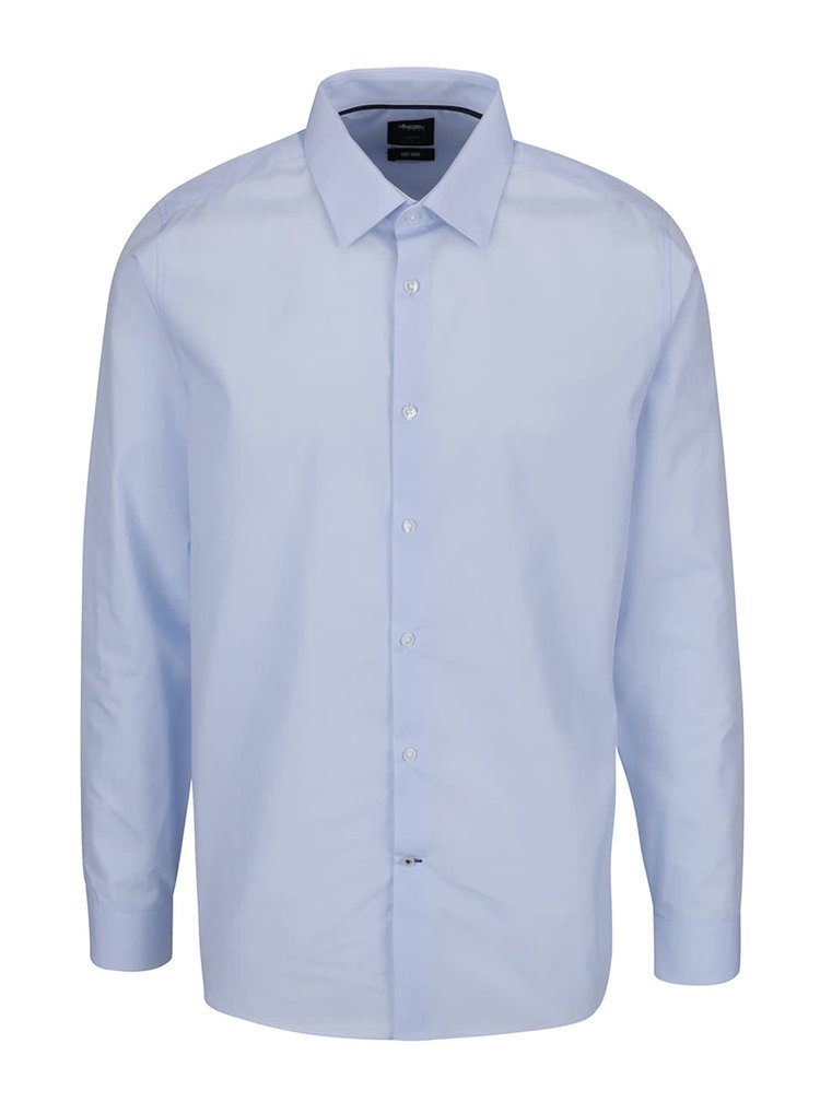 Modrá slim fit košile Burton Menswear London