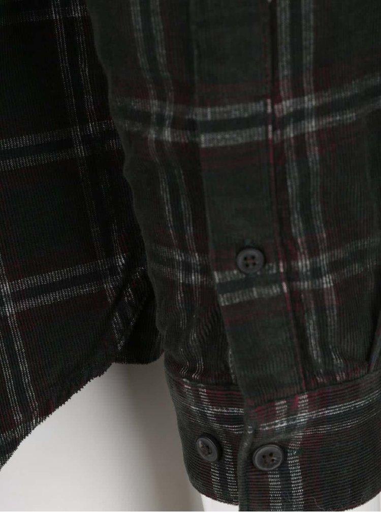 Camasa verde inchis Burton Menswear London din bumbac cu model in carouri