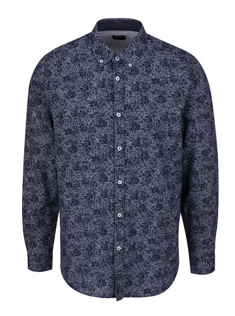 Cămașă albastră Burton Menswear London din bumbac cu model