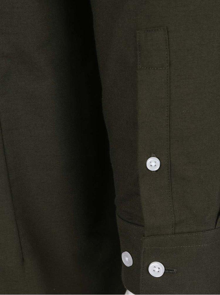 Cămașă verde închis Burton Menswear London din bumbac