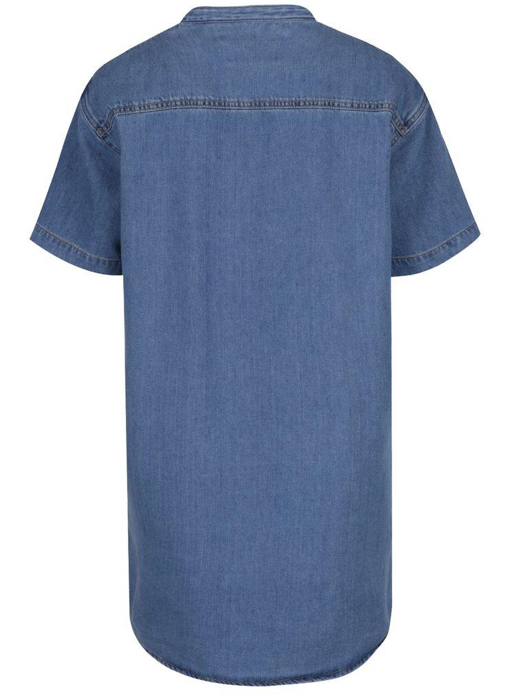 Rochie cămașă albastră VERO MODA Gracie denim