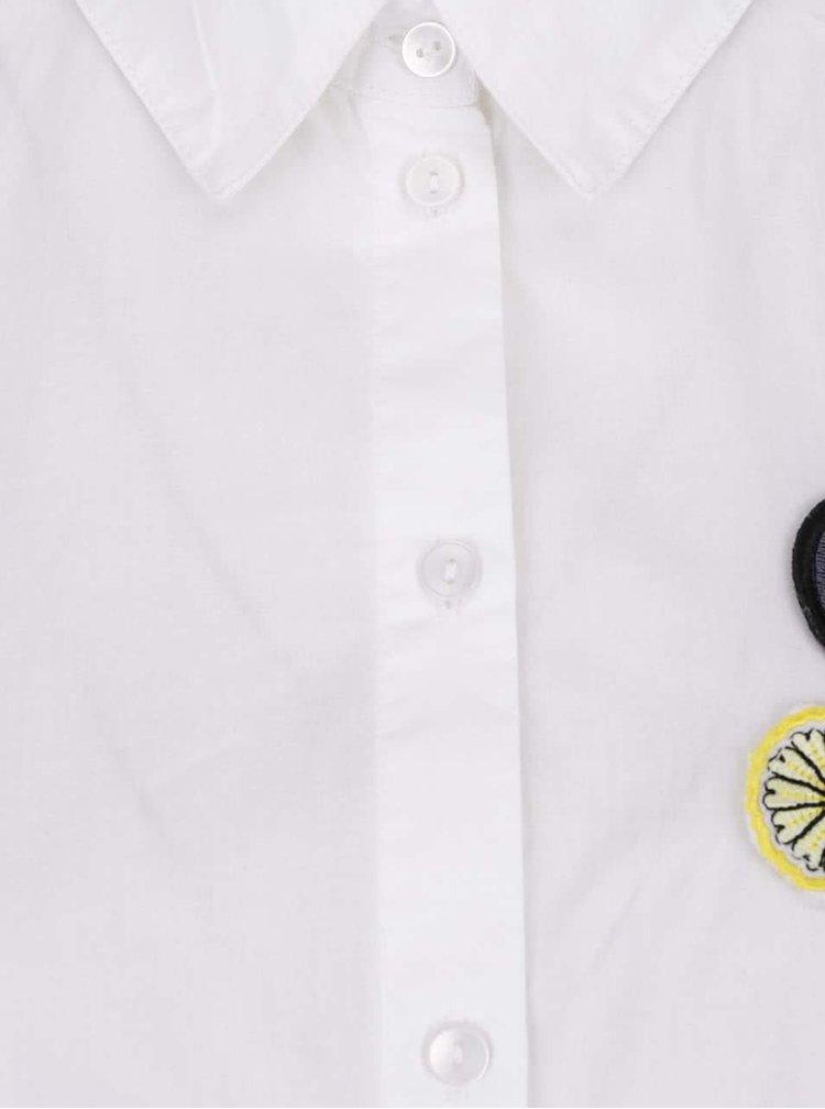 Cămașă albă cu aplicații VERO MODA Badge