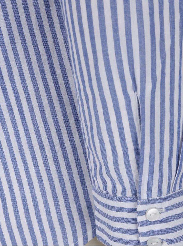 Camasa albastru cu alb in dungi fine VERO MODA Badge