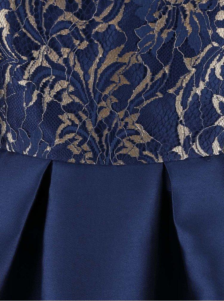Rochie bleumarin Chi Chi London Talia cu detalii translucente