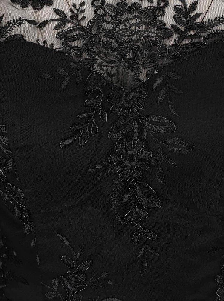 Rochie maxi neagră Chi Chi London Hetty