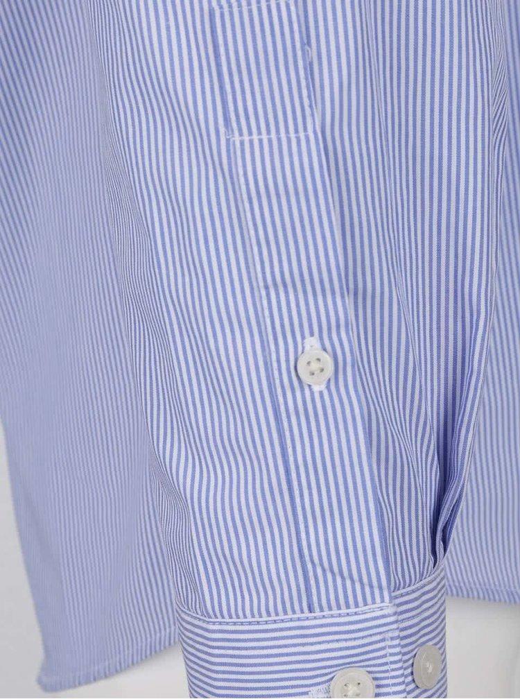 Bílo-modrá pruhovaná košile bez límečku Lindbergh