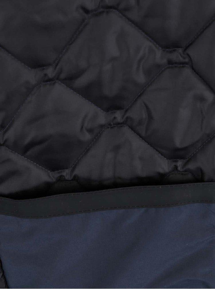 Jachetă bleumarin Lindbergh cu aspect matlasat