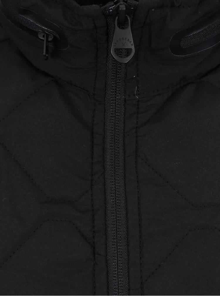 Černá prošívaná vesta Lindbergh