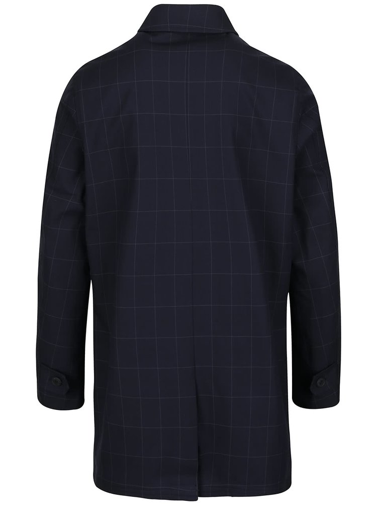 Tmavě modrý lehký kostkovaný kabát Lindbergh