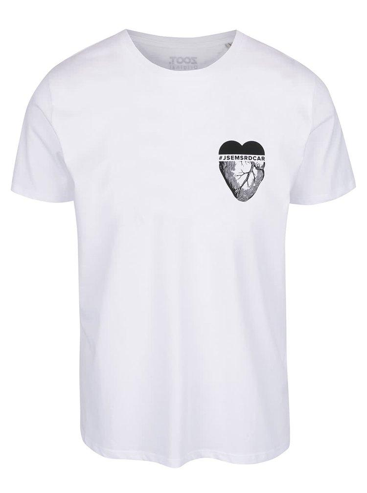Bílé pánské triko ZOOT Originál Srdcař