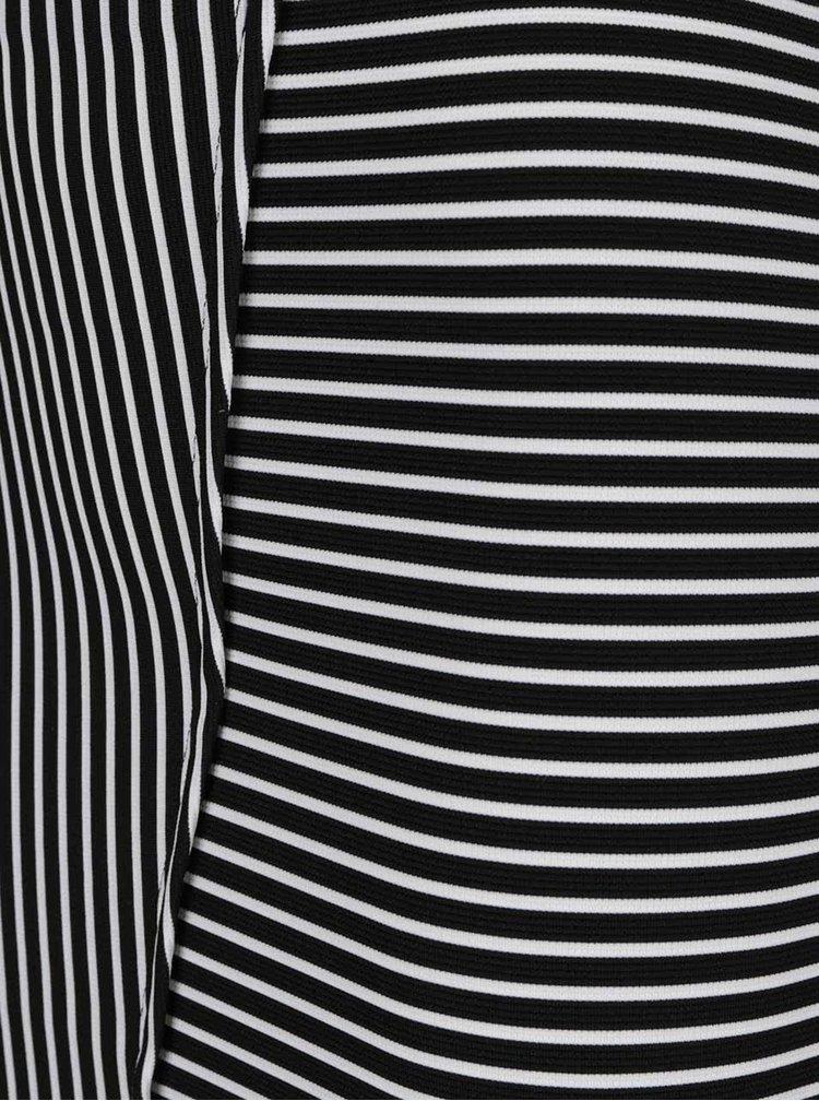 Černo-bílá asymetrická sukně TALLY WEiJL